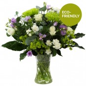 Clear Waters Hand Tied Bouquet in a Beautiful Glass Vase