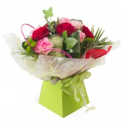 Butterflies & Roses Hand Tied Bouquet in Gift Box