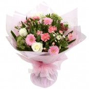 Pretty In Pink Hand Tied Bouquet