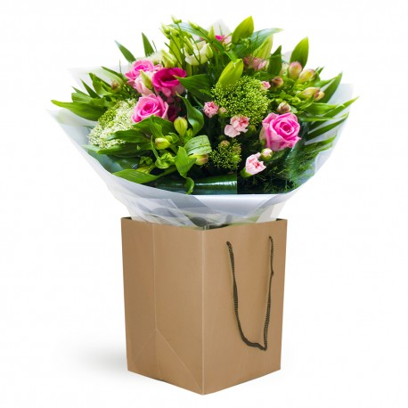 Emerald Kiss Hand Tied Bouquet in a Gift Box