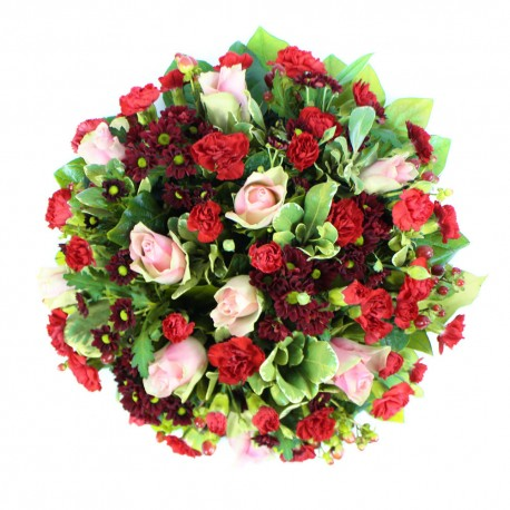 SYM-346 Red & Pink Classic Posy