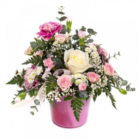 Evie Pink Pot Arrangement