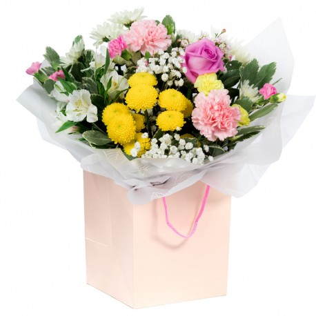 Garden Breeze Hand Tied Bouquet in a Presentation Gift Box
