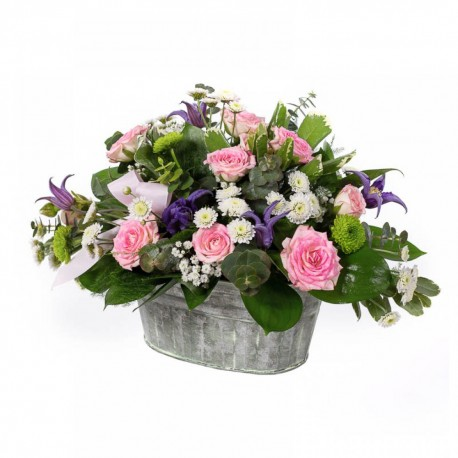 Florence Zinc Tub Arrangement