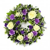 SYM-316 Classic Wreath in Purple & White