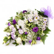SYM-335 Funeral Flowers in Cellophane PURPLE & WHITE